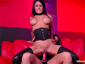 crimson room and scorching strap-on action